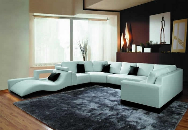 Modern leather sectional sofas furniture ideas