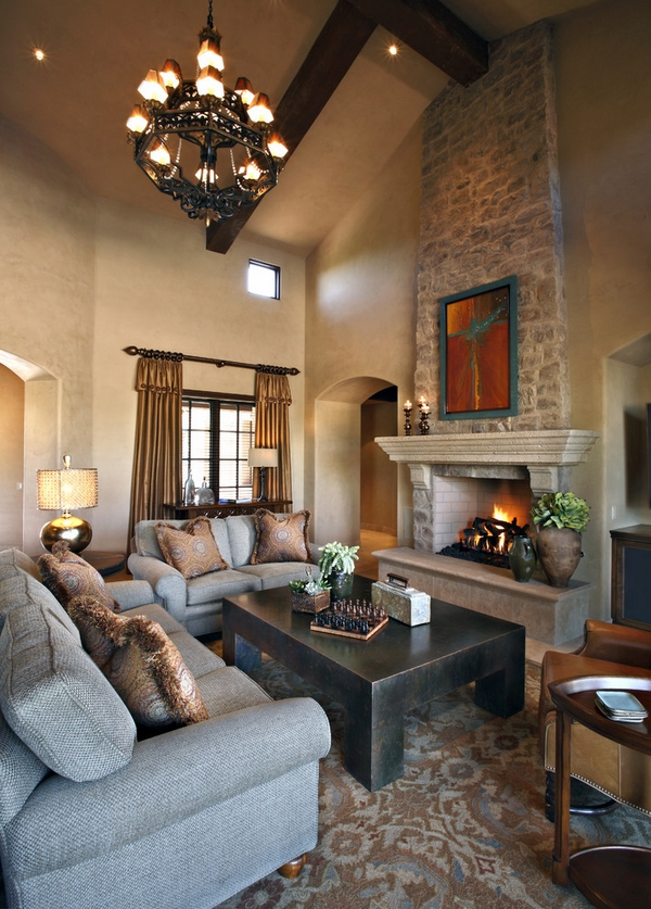 stone-mantel-natural-stone-fireplace-surround cozy living room