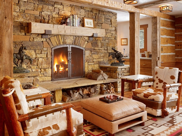 Rustic fireplace mantels wood fireplace mantels natural stone surround