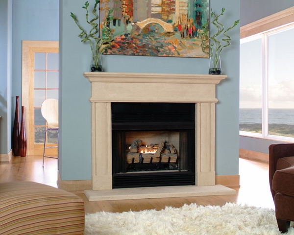 stone-fireplace-mantel-designs straight lines