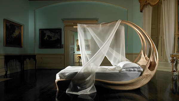 wooden design enignum canopy bed
