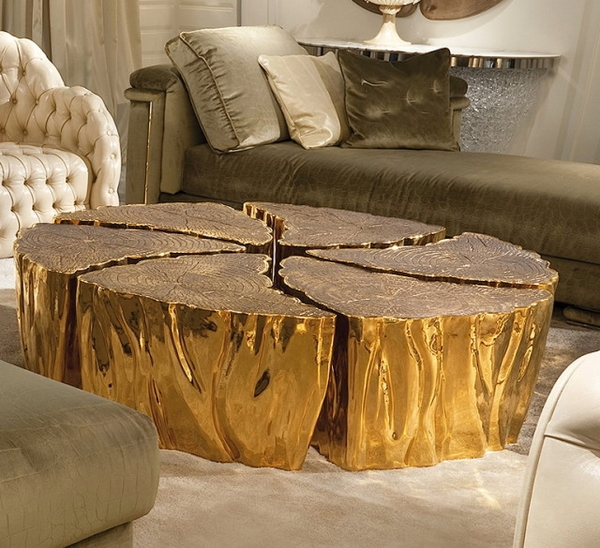 unique furniture gold
