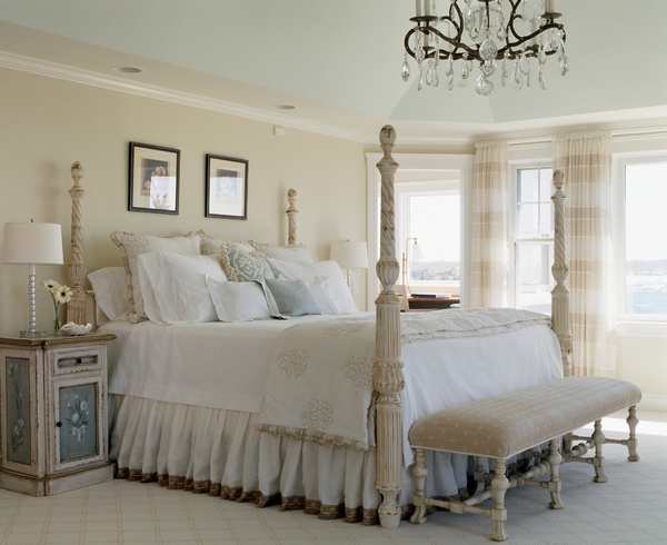 ruffled bed skirt poster bed stylish bedroom decorating ideas