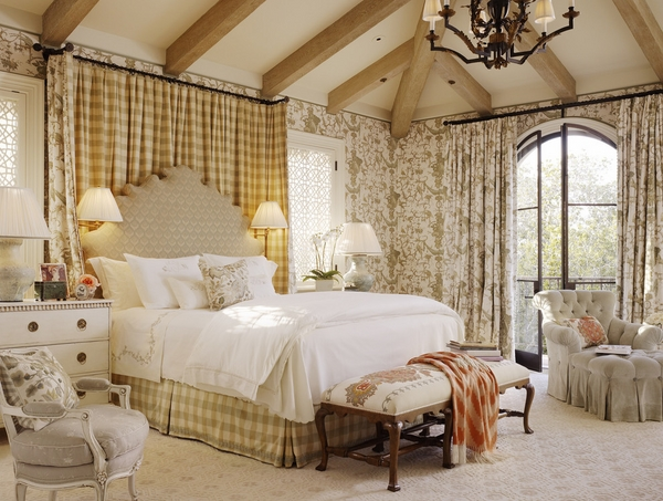 awesome rustic bedroom interior bed curtain and skirt