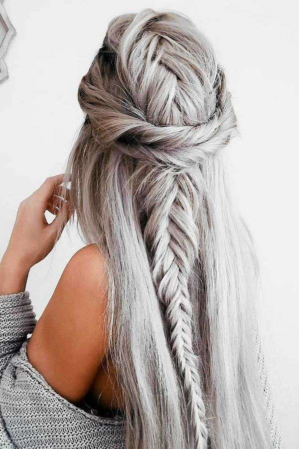 silver blonde color hairstyles