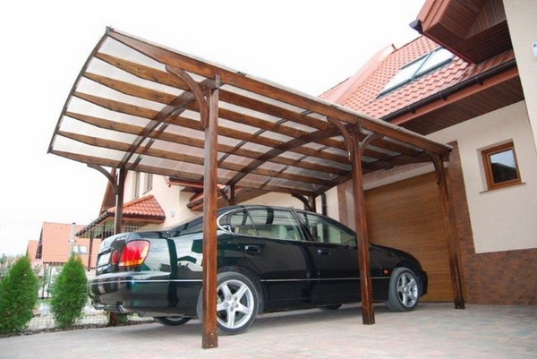 modern garage and shed wooden carport wood beams