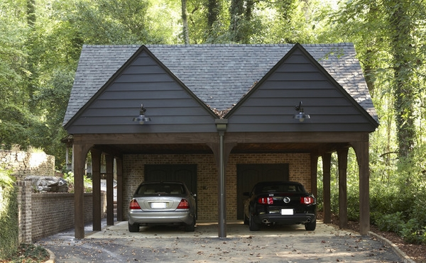 contemporary garage and shed wooden car ports ideas