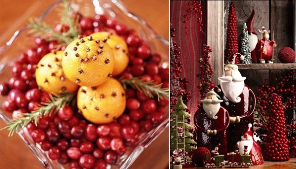 creative cranberries with fruits