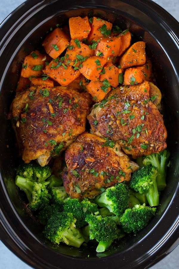slow cooker recipes chicken with sweet potatoes and broccoli
