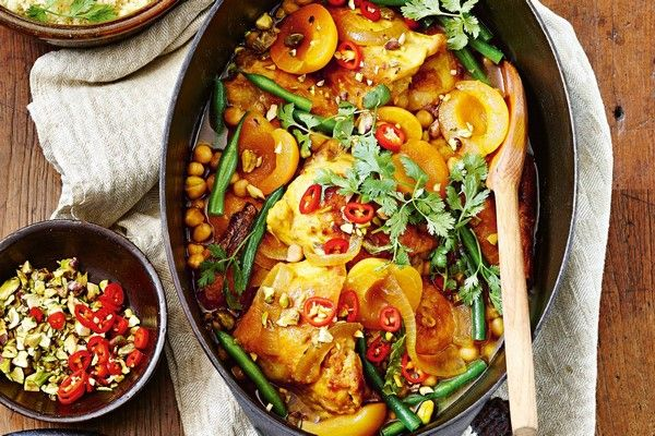 slow cooker chicken with apricots and chickpea easy dinner recipes