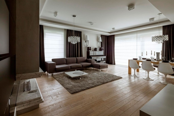 Contemporary apartment interior by Hola design Warsaw