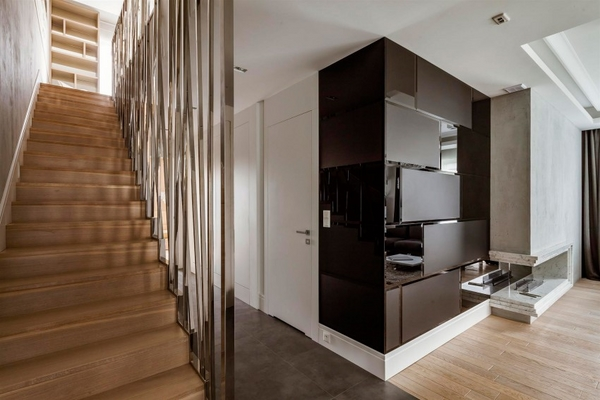 modern interior design staircase wood metal