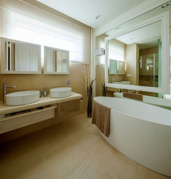 modern home interior master bathroom oval bathtub