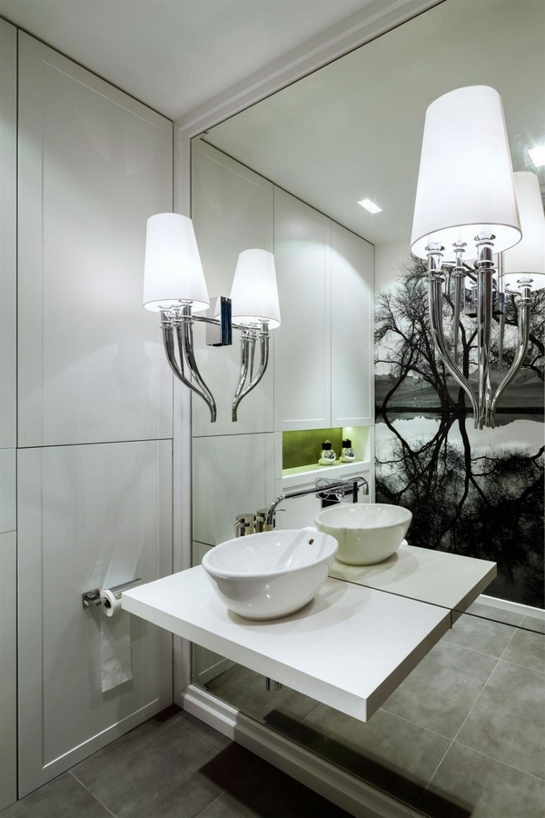 modern bathroom white sink
