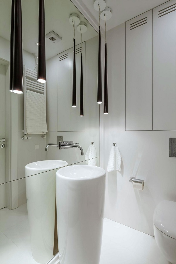 bathroom furniture white sink modern lighting fixtures