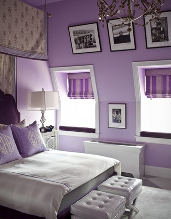 purple design with sloping