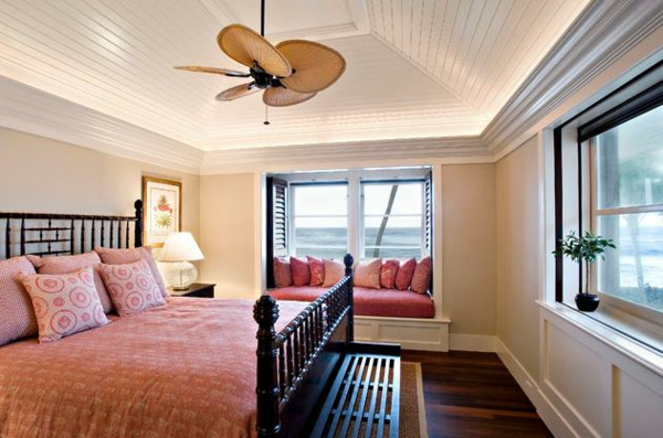 Design ideas bedroom with sloping window seat