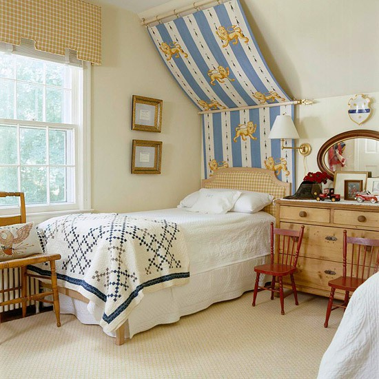 attic Bedroom for kids with sloping