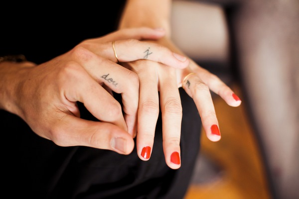 cute finger tattoos for couples