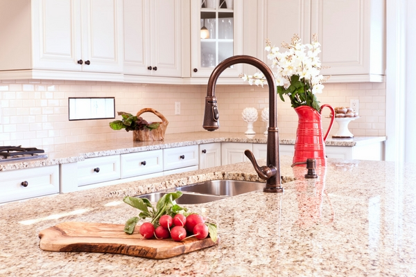 kitchen remodel granite countertops white cabinets