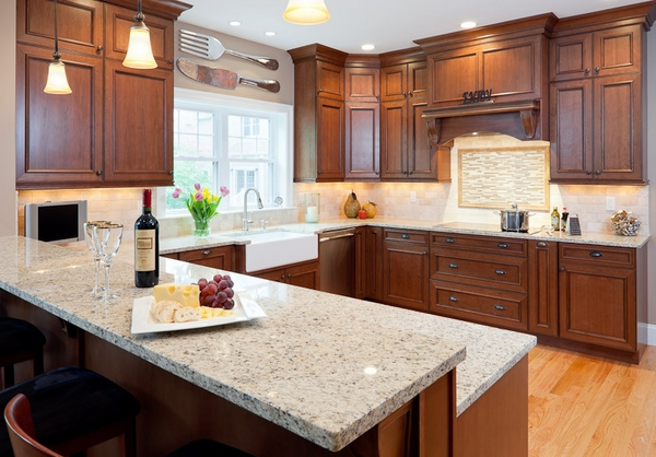 Modern kitchen design granite countertops