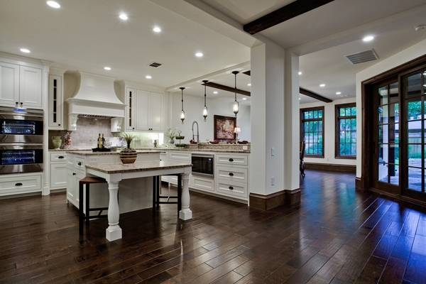 kitchen ideas white cabinets wood flooring