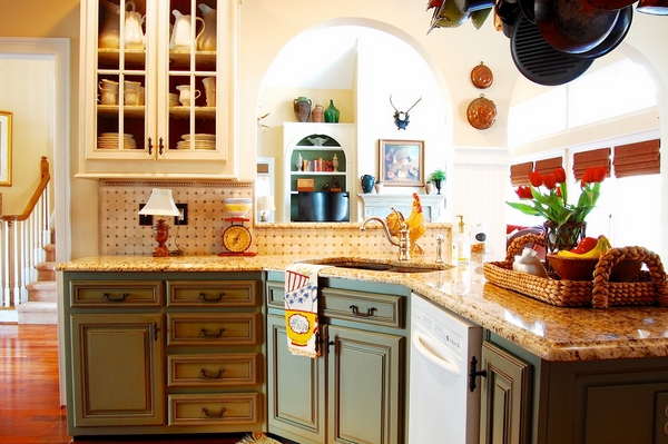 Kitchen design rustic flair granite countertop