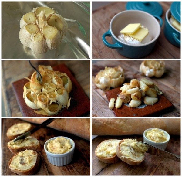 baked garlic paste step by step instructions homemade butter with herbs