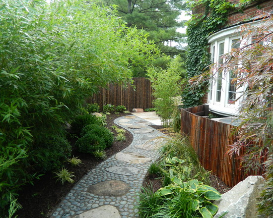 asian style curved path stones design