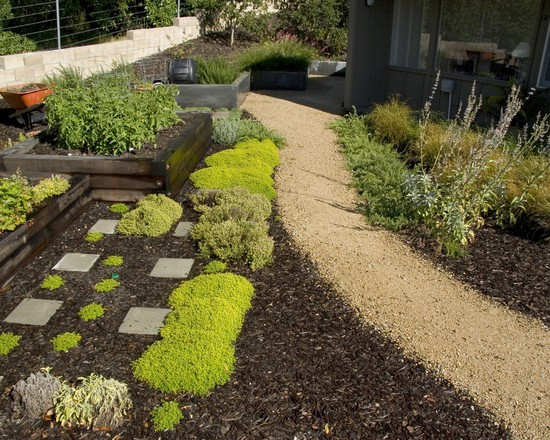 garden landscaping path ideas romantic curved path