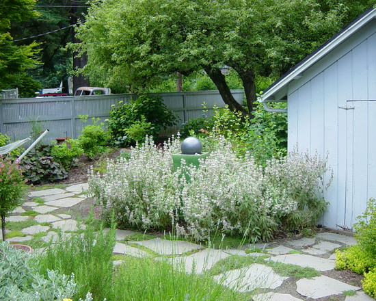 landscape ideas pictures stone path water features fountain