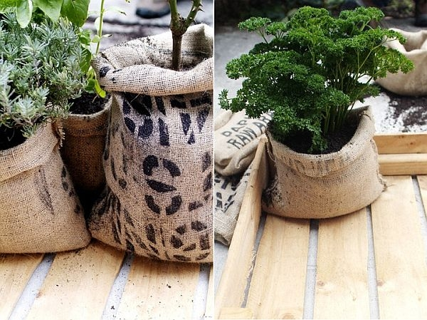 bag flower pots ideas for flower pots to do by yourself