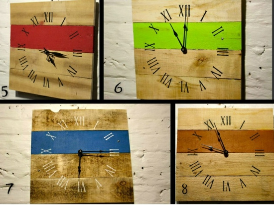 Wooden Pallets clock do it yourself