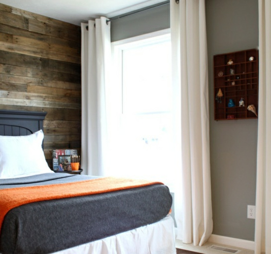 Bedroom Wall Wooden Paneling