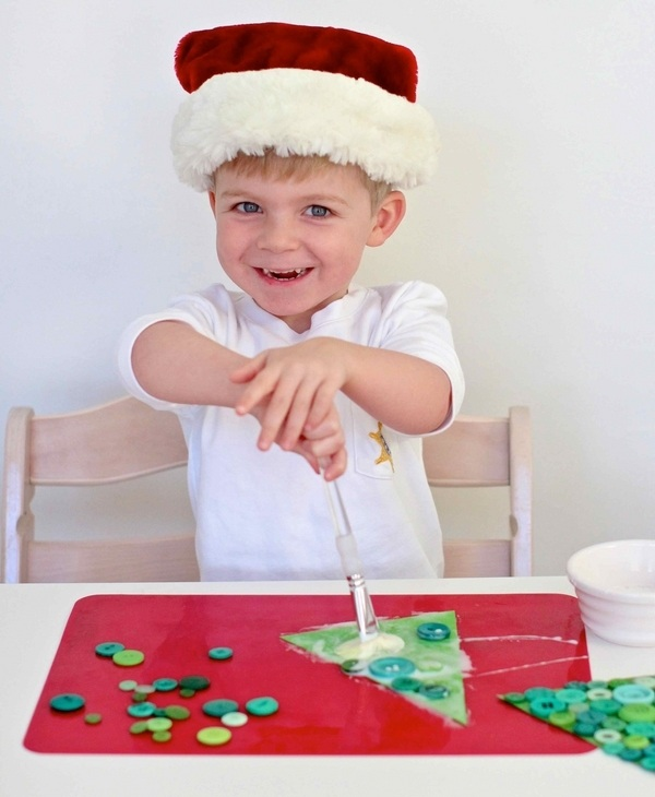 button christmas crafts for kids decorating ideas paper tree