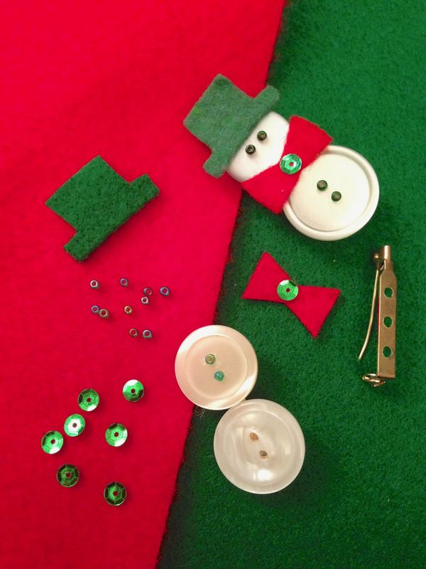 Christmas button craft ideas how to make snowman