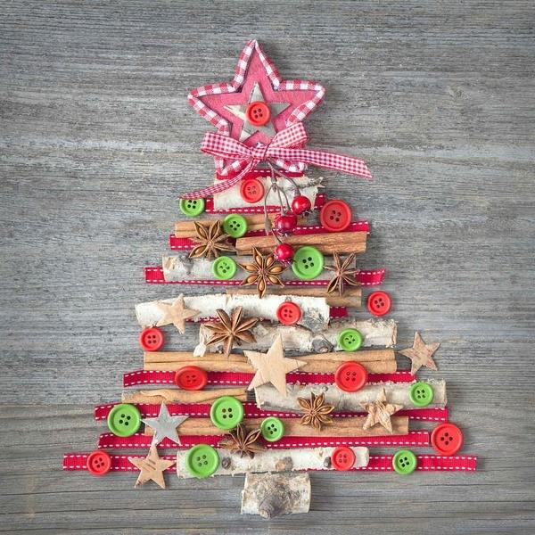 DIY Christmas decoration ideas easy and fun button crafts for kids