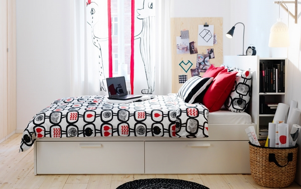 2014 Ikea sets teen ideas colorful accents