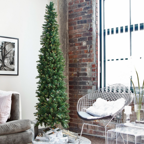 pre lit artificial-christmas-trees-pencil-christmas-tree-ideas