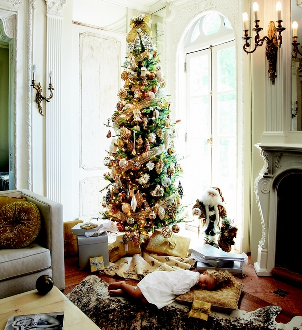 pencil-christmas-tree-ideas living room decoration