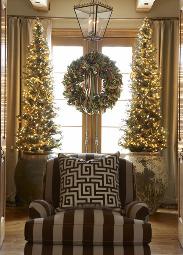 Christmas window decoration ideas pencil Christmas tree ideas