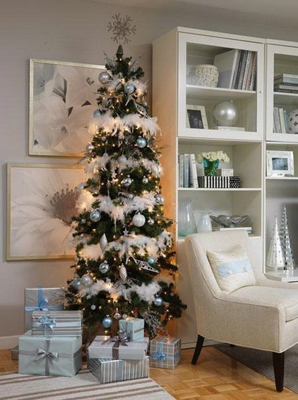 beautiful pencil christmas tree small living room decoration ideas