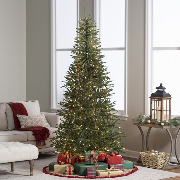 pre lit artificial-christmas-tree-ideas-narrow-christmas-tree-ideas small living room decor