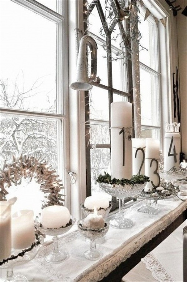 awesome ideas white candles wreath