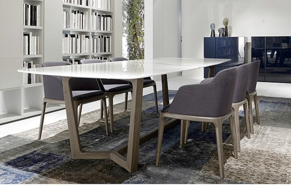 upholsted dining home interior