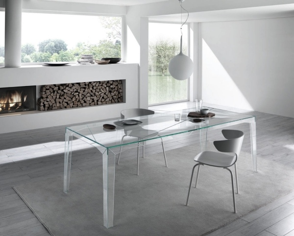 f fireplace glass table dwhite