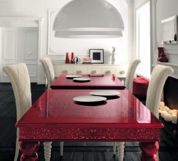 white red red table white