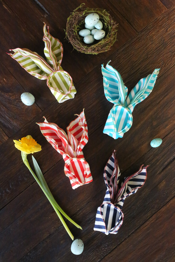 how to fold easter napkins table decor ideas