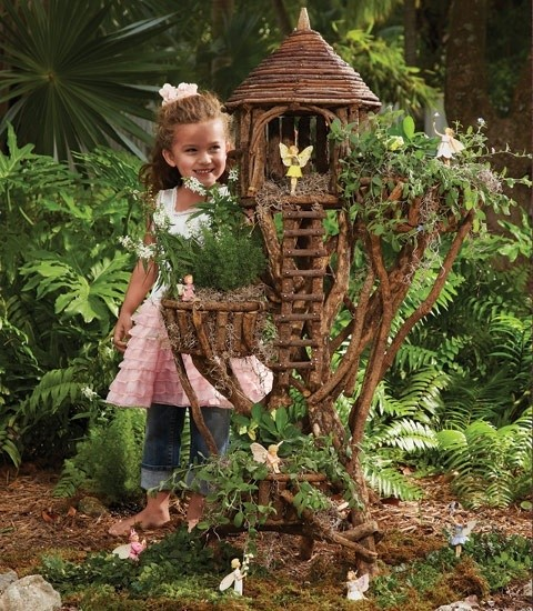 fairy garden ideas fairy house tree branches garden decor