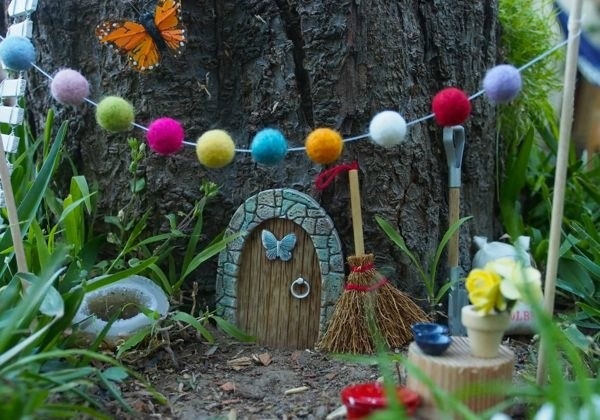 fairy house garden tree garden decoration ideas